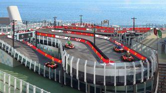 Pista karts Ferrari en un crucero -Soymotor