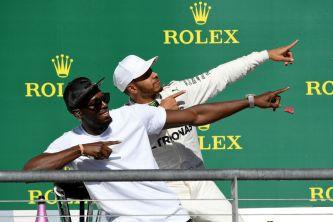 Bolt y Hamilton en el podio de Austin - SoyMotor.com