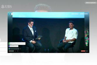 Lewis Hamilton en el evento de UBS - SoyMotor