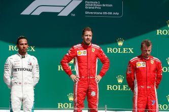 Lewis Hamilton, Sebastian Vettel y Kimi Räikkönen en Silverstone - SoyMotor.com