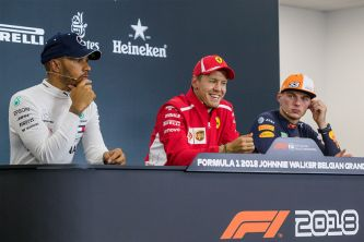 Lewis Hamilton, Sebastian Vettel y Max Verstappen en Spa -SoyMotor.com