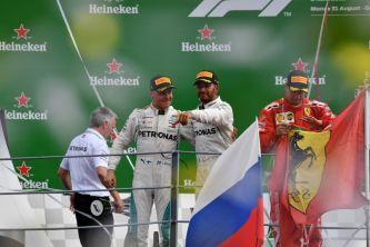 Los tres primeros clasificados en el GP de Italia de 2018 –SoyMotor.com
