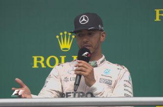 Lewis Hamilton en el podio de Hockenheim - LaF1