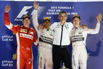Podio del Gran Premio de Baréin F1 2015 - LaF1