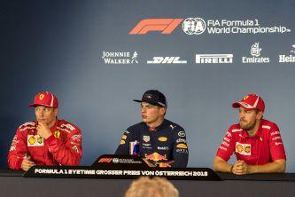Kimi Räikkönen, Max Verstappen y Sebastian Vettel en Austria - SoyMotor.com