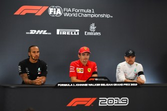 Charles Leclerc, Lewis Hamilton y Valtteri Bottas en Spa-Francorchamps - SoyMotor