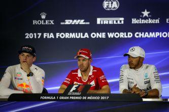 Verstappen, Vettel y Hamilton en la conferencia de prensa tras la clasificación - SoyMotor.com
