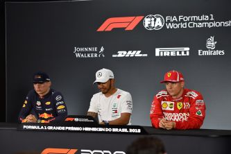 Max Verstappen, Lewis Hamilton y Kimi Räikkönen en Interlagos - SoyMotor.com