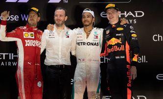 Sebastian Vettel, Lewis Hamilton y Max Verstappen en Yas Marina - SoyMotor.com