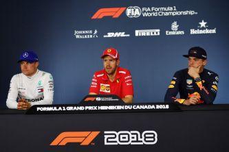 De izq. a der.: Bottas, Vettel y Verstappen – SoyMotor.com