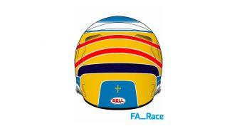 Alonso cambia de marca de cascos y muestra otro adelanto