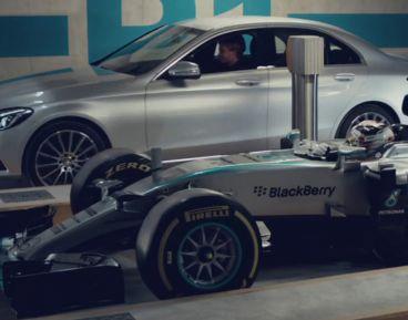 Mercedes C 350 vs Mercedes F1. Rosberg vs Hamilton - SoyMotor
