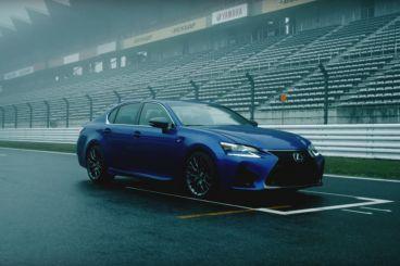 Lluvia, Fuji y un Lexus GS F 2015 en plena acción
