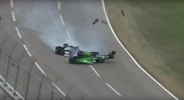 Brutal impacto contra el muro durante la IndyCar Series en Texas
