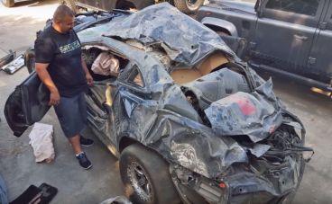 Estado del Camaro después del accidente - SoyMotor