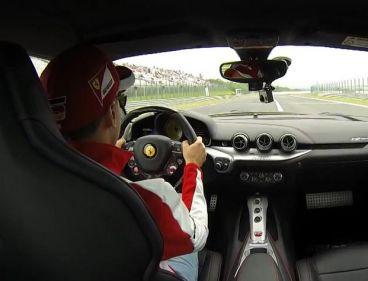 Vettel y su clase magistral de drift a los mandos del Ferrari F12