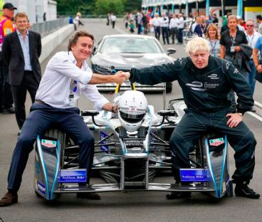 Alejandro Agag (izquierda) y Boris Johnson (derecha) - LaF1