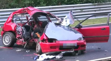 Honda Civic accidentado en Nürburgring
