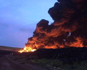 Fotografía del incendio del vertedero de neumáticos en Seseña (Forocoches) - SoyMotor