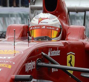 Kamui Kobayashi con el Ferrari F60 en Moscú