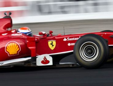 Marc Gené con el Ferrari F10 en el Rudskogen Motorfestival - LaF1