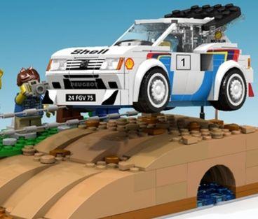 El Peugeot 205 del Grupo B en Lego