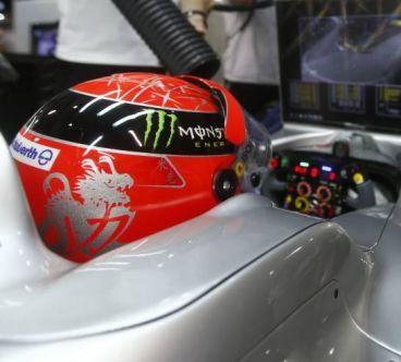 Michael Schumacher en el Gran Premio de Singapur de 2012