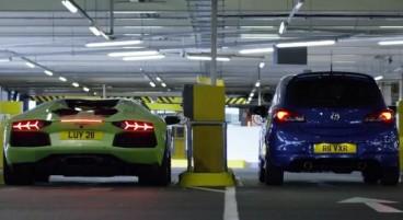 Lamborghini Aventador VS Opel Corsa OPC -SoyMotor