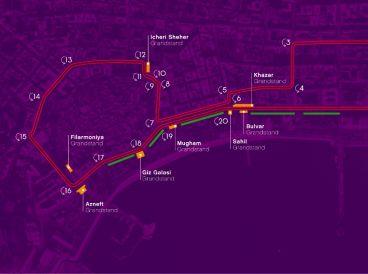 El nuevo trazado de Baku combina alta velocidad con zonas estrechas - LaF1