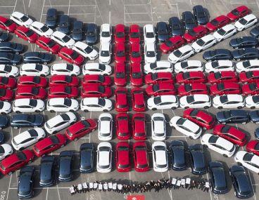 132 unidades del Opel / Vauxhall Astra forman esta bandera con mucho significado - SoyMotor