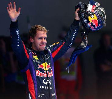 Sebastian Vettel tras su victoria en el Buddh International Circuit - LaF1