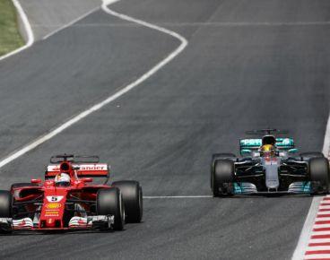 Sebastian Vettel por delante de Lewis Hamilton en Barcelona – SoyMotor.com