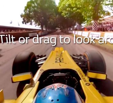 Palmer y la subida de Goodwood, en un vídeo de 360 grados
