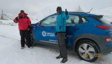 El Hyundai Kona eléctrico bate un récord Guinness