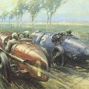Pintura del Gran Premio de Francia de 1922 - LaF1