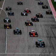 Salida del GP de Malasia con Hamilton, Rosberg y Vettel en cabeza -LaF1
