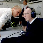Valtteri Bottas junto al fundador del equipo, Sir Frank Williams - LaF1