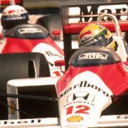 Ayrton Senna y Alain Prost durante el GP de Francia de 1988