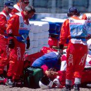 Michael Schumacher en Silverstone 1999, donde sufrió el accidente más grave de su trayectoria profesional - LaF1