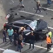 Así quedó el BMW Serie 7 presidencial tras el fuerte impacto frontal - SoyMotor