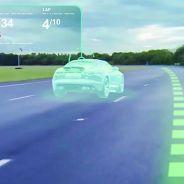 Ejemplo gráfico del sistema 'Virtual Windscreen' de Jaguar - SoyMotor