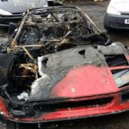 Sólo el logo del Cavallino Rampante ha sobrevivido al terrible incendio de este Ferrari F40 - SoyMotor
