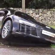 De esta guisa quedó el Audi R8 V10 Plus tras el percance - SoyMotor