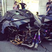 El corazoncito de cualquier 'petrolhead' sufre viendo este Pagani Huayra Pearl destrozado - SoyMotor