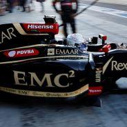 El Lotus de Grosjean en el GP de Abu Dabi 2014 - LaF1