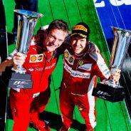 Allison y Vettel en el podio de Hungría - LaF1.es