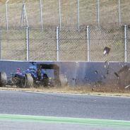 Accidente de Fernando Alonso en el Circuit de Barcelona-Catalunya - LaF1