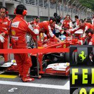 Fernando Alonso en la parrilla de salida de Interlagos - LaF1