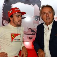 Fernando Alonso y Luca di Montezemolo en el pasado GP de Italia - LaF1