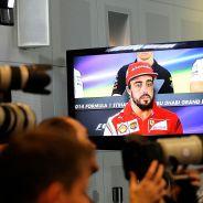 Fernando Alonso durante la rueda de prensa previa al GP de Abu Dabi - LaF1